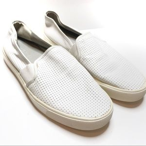 Vince Blair White Slip On Leather Sneakers